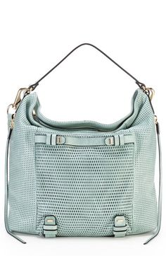 Leather Hobo with perforated detail.  Anything but basic.