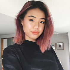 40 ideas of pink highlights for major inspiration 48 Hair Orange, Green Hair, Brown And Pink Hair, Cabelo Rose Gold, Hair Colorful, Pink Ombre Hair, Coloured Hair, Dye My Hair, Hair Day