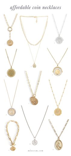 I found the best affordable coin necklaces! Love a gold coin necklace and the silver coin necklace!