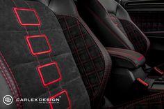 Golf GTI Gets Fresh Spin on Tartan Interior from Carlex Volkswagen Golf Variant, Volkswagen Golf Mk1, Volkswagen Models, Vw Golf Variant, Golf Gti Mk6, Gti Vr6, Automotive Upholstery, Car Upholstery, Sport Seats