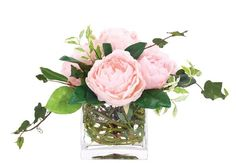Natural+Decorations,+Inc.+-+Peony+Pink+|+Glass+Cube+
