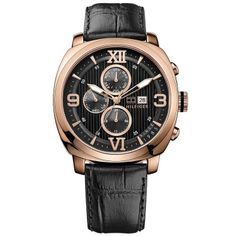Tommy Hilfiger Classic Multifunction Leather - Black Men's watch #1790969  $114 - Amazon