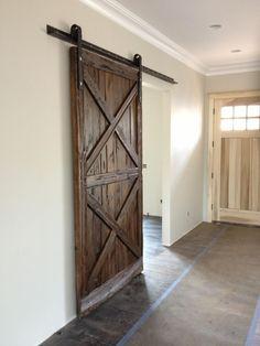 Love this barn door by Porter Barn Wood!!