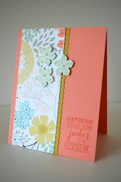 Made a variation of this design.  Card from Stampin' Up in Munchen (Marion Stempelt).