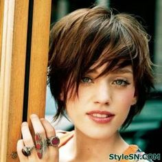 The Wispy and Layered Short Hairstyle