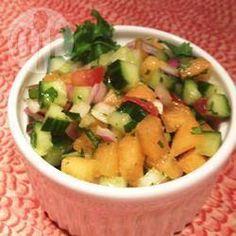 Salade de concombre et cantaloup @ qc.allrecipes.ca