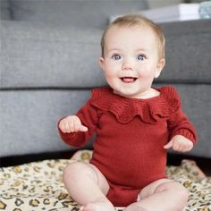Riley Long Sleeve Romper Storing Baby Clothes, Winter Baby Clothes, Baby Winter, Fall Knitting, Baby Boutique Clothing, Kids Clothing, Baby Clothes Online, Knitted Romper, Newborn Outfits