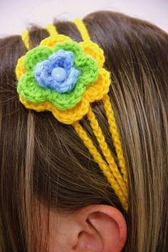 greek headband. colors of Brazil.