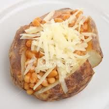 Jacket Potatoes, such a staple when I visited England.  Yummer.