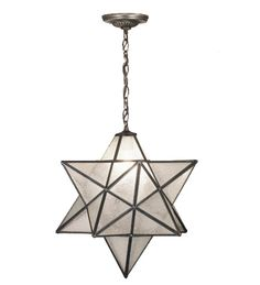 "Meyda Lighting Part Number 21211 18""W Moravian Star Seedy Pendant"