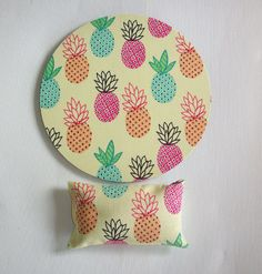 mouse pad  mousepad  mat  wrist rest set  pineapple by Laa766  chic / cute / preppy / computer, desk accessories / cubical, office, home decor / co-worker, student gift / patterned design / match with coasters, wrist rests / computers and peripherals