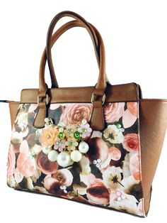 Brown flower totebag available at Amazon
