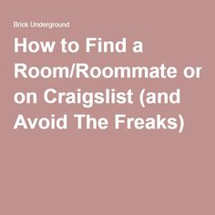 Is craigslist safe for roommates decor