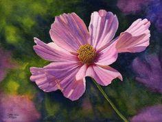 rose-flower-watercolor-painting-cathy.jpg (660×503)