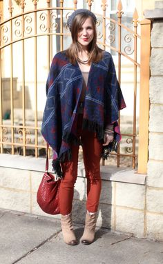 Brown Eyed Style: Outfit: Electro Poncho