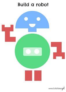 Build a robot free printables