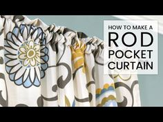 diy curtains Want to learn something new and easy? Check out this simple DIY rod pocket curtains and schedule it for your next sewing project. No Sew Curtains, Drop Cloth Curtains, How To Make Curtains, Rod Pocket Curtains, Lined Curtains, Sewing Crafts, Sewing Projects, Diy Crafts, Curtain Patterns