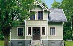 Bilderesultat for husfasader Exterior House Colors, Exterior Design, This Old House, Wooden Facade, Sweden House, Mountain House Plans, Scandinavian Home, House Front, Home Interior