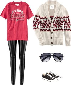 """Atlanta Falcons Game day Outfit"" by Girls Love the Game. Your source for NFL fashion!"