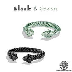 Black & Green #DavidYurman #Aluminum #Bracelet #Style #Trendy #Fashion #Fashionista #JewelryAddict #JewelryLover #Jewelry #Jewellery