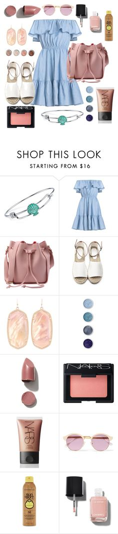 """walk on the beach"" by alexa-str on Polyvore featuring Disney, Kendra Scott, Terre Mère, NARS Cosmetics, Sheriff&Cherry, Forever 21 and Chanel"
