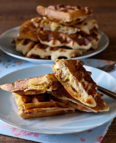 Bacon, Egg and Cheese Stuffed Waffles