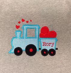 Love train Valentines day shirt, boys valentines on Etsy, $18.00