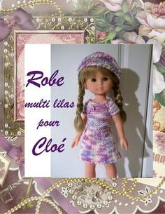 Tuto robe Les Chéries Cherie Coco, Knit Crochet, Crochet Hats, French Pattern, Chloe Dress, Diy Doll, Marie Claire, Free Knitting, Kids And Parenting