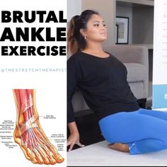 Ankle Exercises, Foot Stretches, Massage Tips, Massage Therapy, Gym Workout Tips, Easy Workouts, Pilates, Plantar Fasciitis Stretches, Movement Fitness