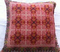 handmade Palestinian embroidery cross stitch pillow