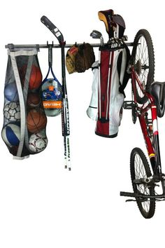 Sports Equipment Storage Rack: Versatile Storage Rack For All Of Your Sporting Goods. Store And Organize The Easy Way.
