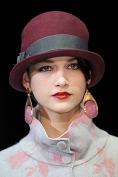 Emporio Armani Fall 2013 Hats totally would wear this !