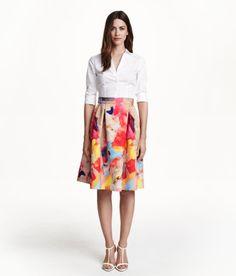 Floral skirt, H&M