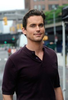 Here's Matt Bomer casually walking down the street, just looking like a male model and/or a Disney prince.