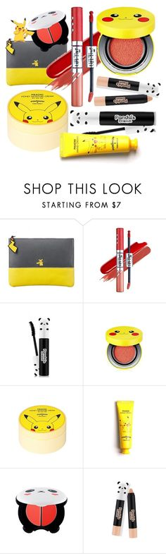 """Pika panda!"" by beanpod ❤ liked on Polyvore featuring beauty, Etude House, TONYMOLY and York Wallcoverings"