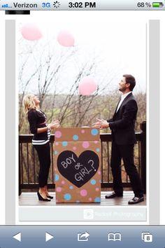 Surprise baby gender announcement