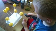 Yummy marshmallow Lego pops!