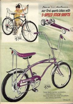 Love the old car and bike combo ads!