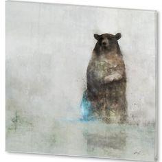 Bear Spring Giclee Fine Art Print Medium: Digital Painting Paper Size: 13 inches X 19 inches Image Size: 12 inches X 12 inches: Art D'ours, Art Sculpture, Art Et Illustration, Bear Art, No Photoshop, Land Art, Abstract Art, Abstract Paintings, Oil Paintings