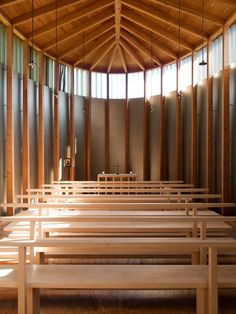 Church San Benedetg, Sumvitg, Switzerland   By Peter Zumthor (1988)