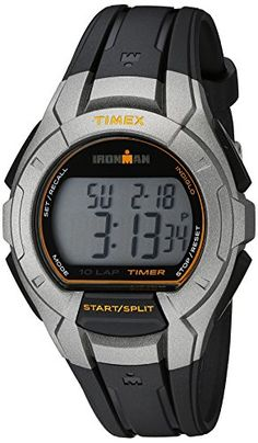 Timex Mens TW5K93700 Ironman Essential 10 FullSize BlackSilverTone Resin Strap Watch * You can find out more details at the link of the image.