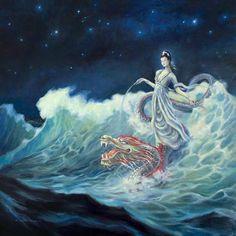 Dragon and Guanyin Bodhisattva