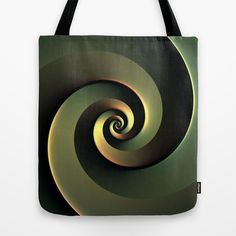 Dark Spiral Tote Bag by Lyle Hatch - $22.00
