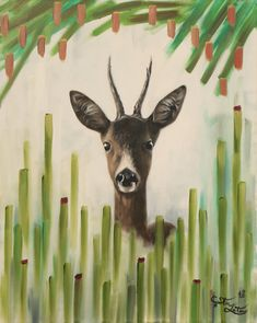 #deer #finished #green #abstract #hyperrealism #painting #oilpainting #gemälde #photorealism #art #künstler #leiterguenter #gras Gras, Moose Art, Photo And Video, Instagram, Animals, Painting, Ladder, Art, Photo Illustration