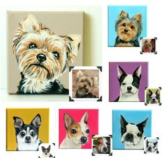 "Custom Dog Portrait / Custom Pet Portrait 1 Pet Close-Up Solid background (6x6x0.75"") Original Painting on Canvas Memorial Stardust Studio by TheStardustStudio on Etsy https://www.etsy.com/listing/103018455/custom-dog-portrait-custom-pet-portrait"