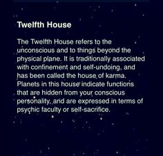 Twelfth House #12thHouse #TwelfthHouse #astrology
