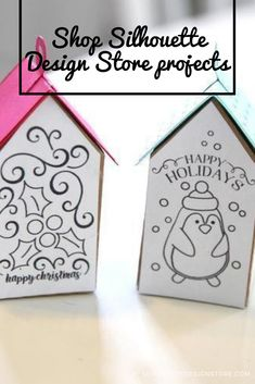 Silhouette Design Store: Mistletoe And Penguin Coloring House Ornament Silhouette Projects, Silhouette Design, Design Projects, Craft Projects, Penguin Coloring, House Ornaments, Mistletoe, Store, Templates