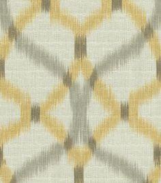 Home Decor Print Fabric-Waverly Izmir Ikat/Pumice, , hi-res Living room curtains