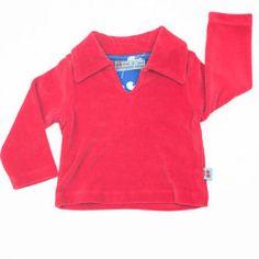 Velvet Sweater Red