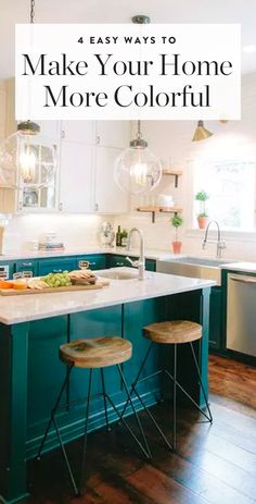 A little color goes a long way. Here are four ways to make that happen. — via @PureWow